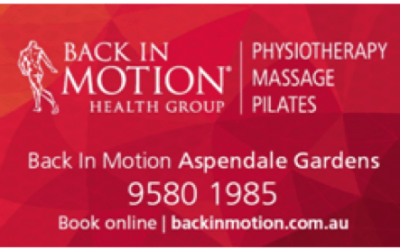 SPECIAL OFFER! BACK IN MOTION